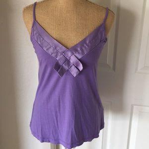 Camisole lavender Top w/silk decoration Medium